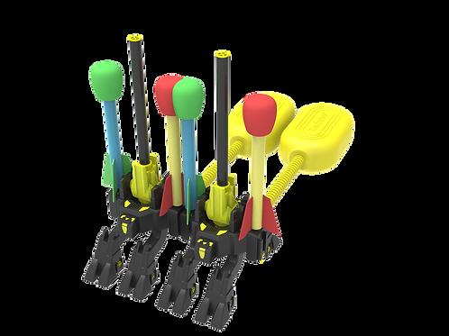 TECBOSS Duel Rocket Launchers Toy for Kids W/ 8 Foam Rockets