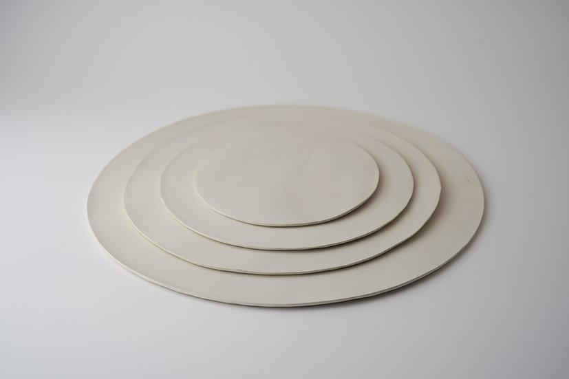 【中村豊実】磁器板皿・丸