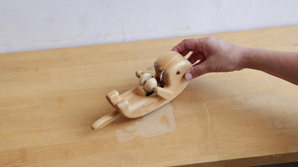 【蓮渓円誠】カラクリ玩具:ラッコ