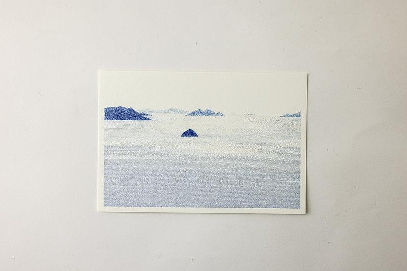 【しゅんしゅん】ポストカード「弥山、宮島、瀬戸内海」(SN-53)