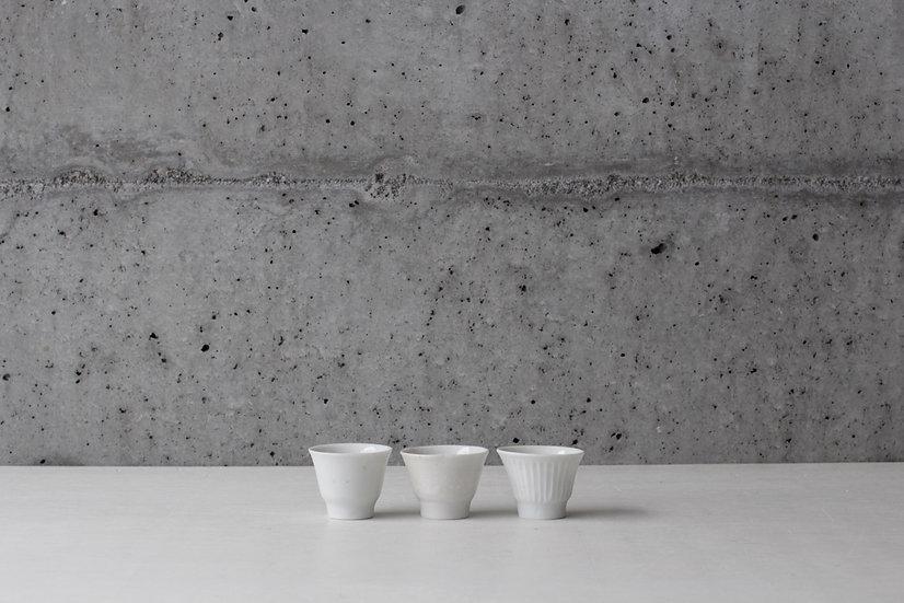 【竹下努】青白磁茶杯(無地/輪花/鎬)