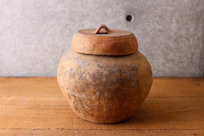 【古い道具】蓋付壺(不明)