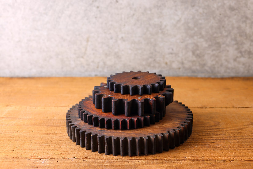 【古い道具】歯車(木製)