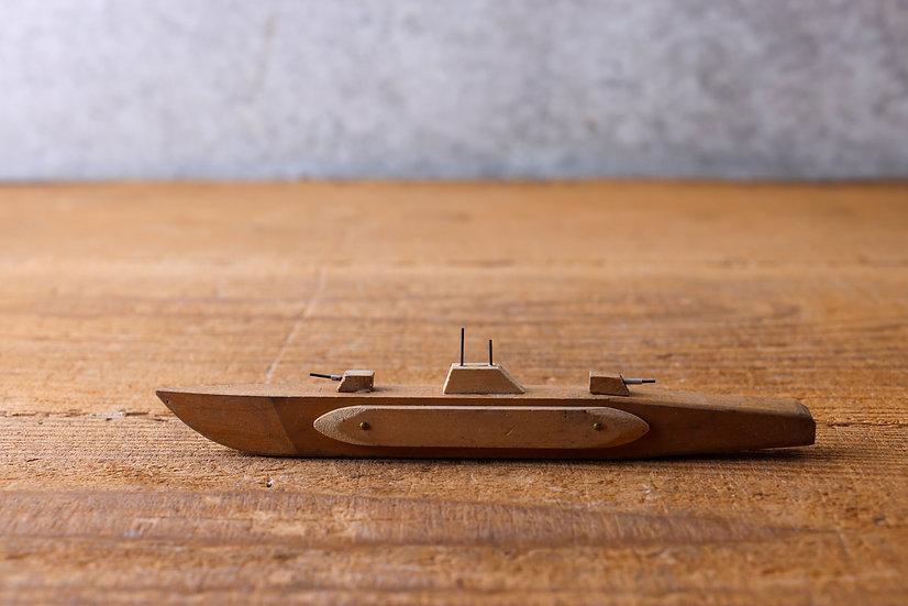 【古い道具】戦艦(木製玩具)