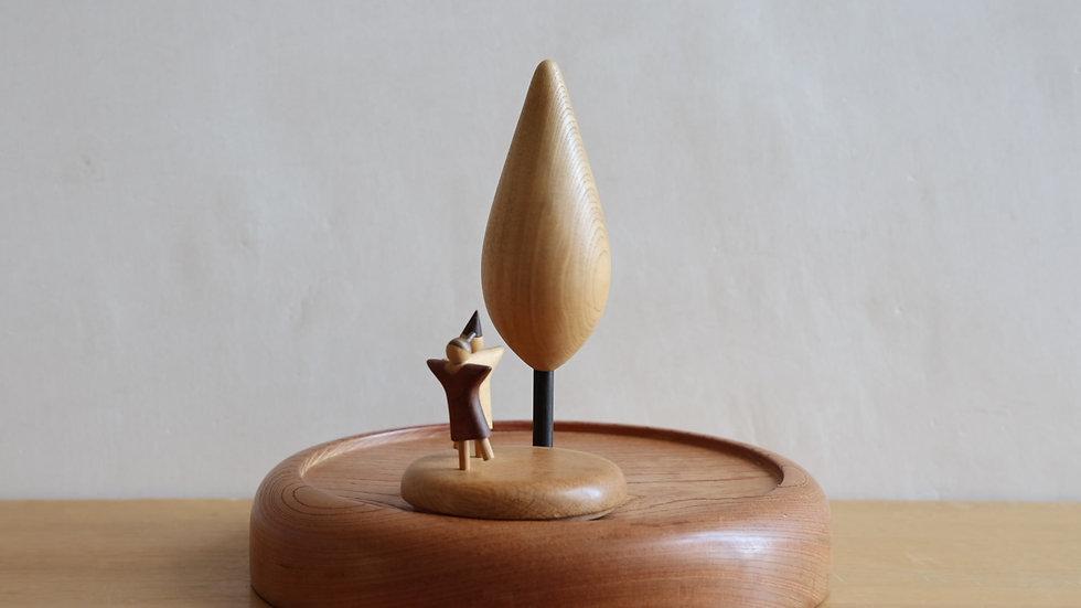 【蓮渓円誠】カラクリ玩具:小さな木下で(HE1-5)