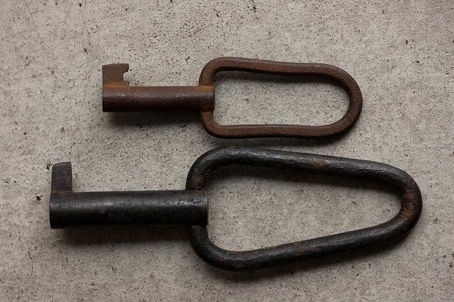 【古い道具】古い錠前の鍵