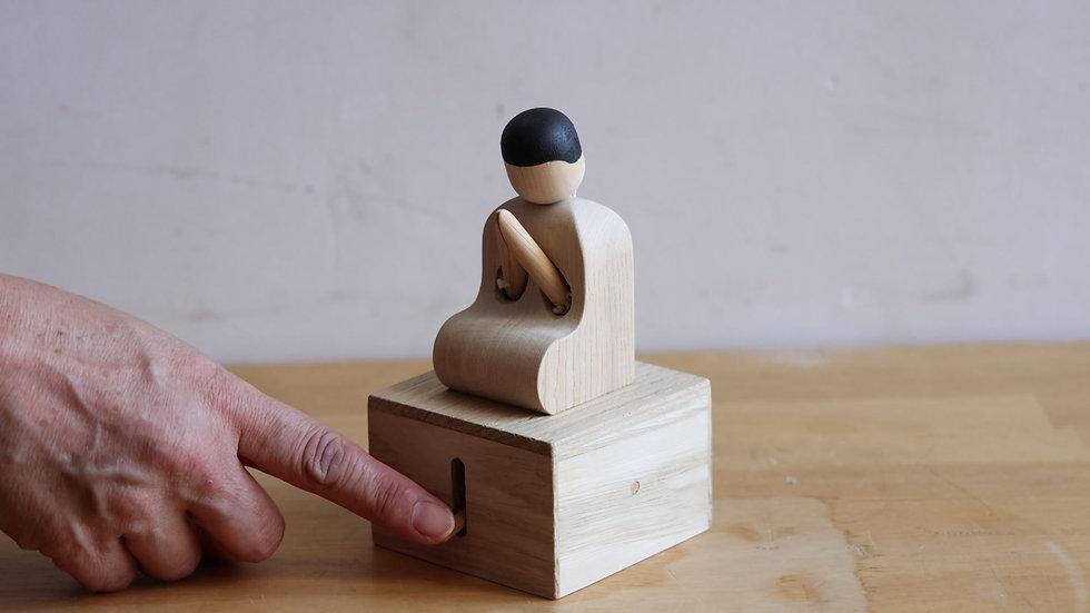 【蓮渓円誠】カラクリ玩具:合掌人形