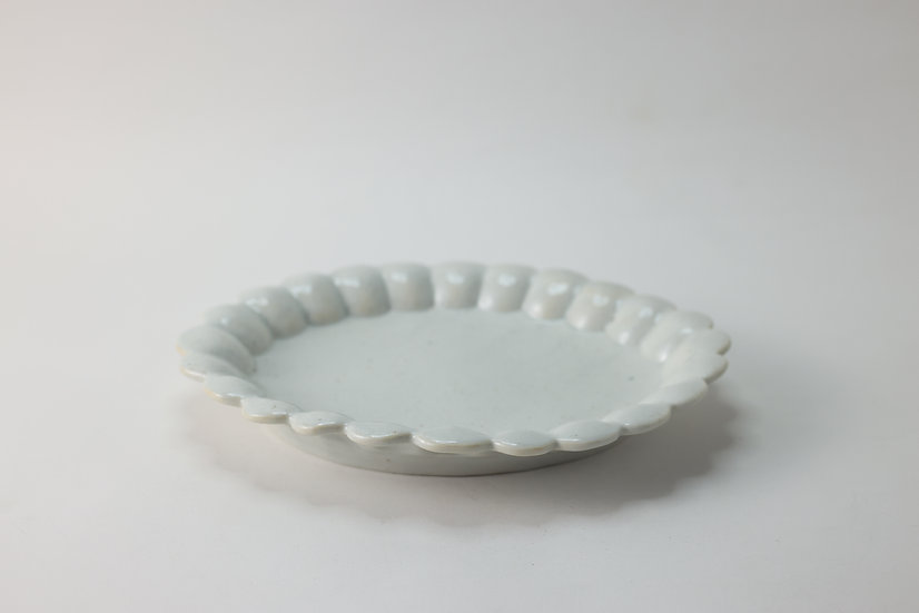 【竹下努】青白磁丸輪花平鉢・大(TTM3-26)