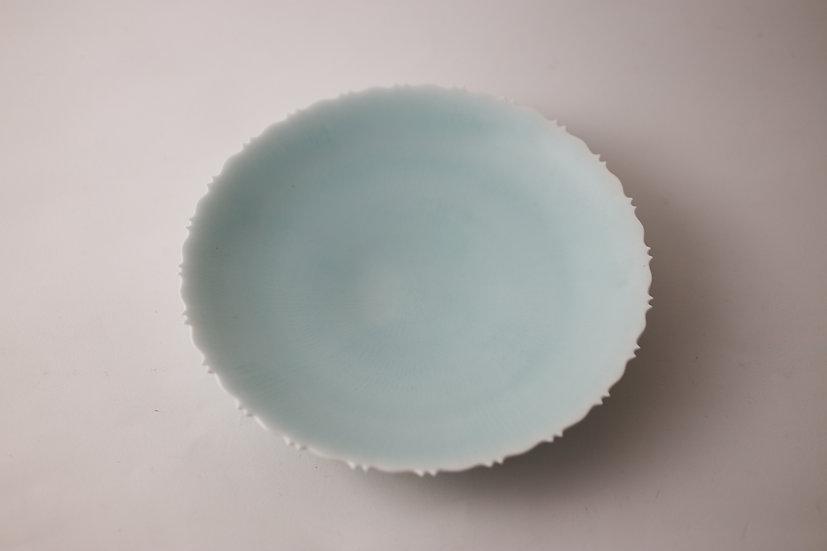 【村田匠也】青白磁稜花茶盤