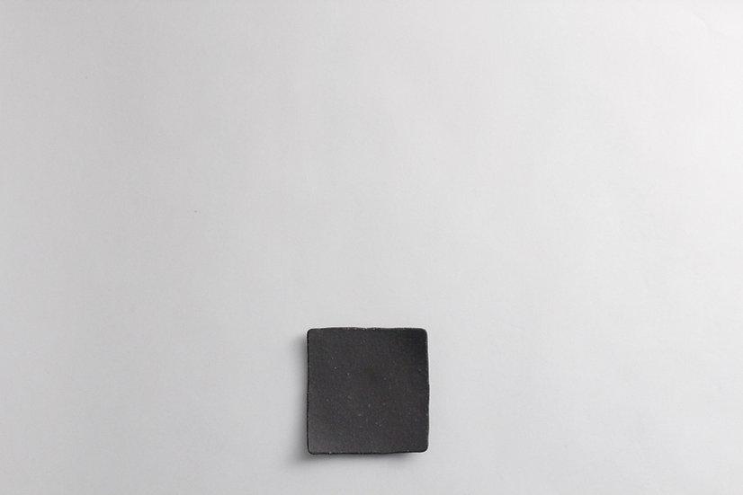 【中村豊実】焼き締め角豆皿/焼き締め角皿