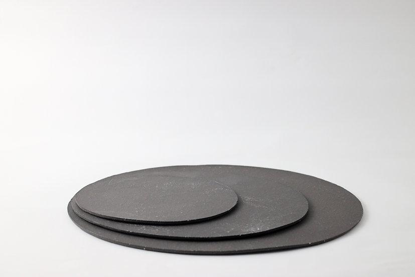 【中村豊実】焼き締め板皿・楕円・W170/W250/W300