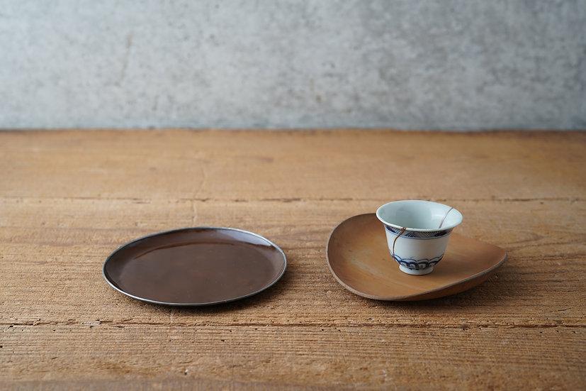 【古道具】竹皿 / ブリキの皿