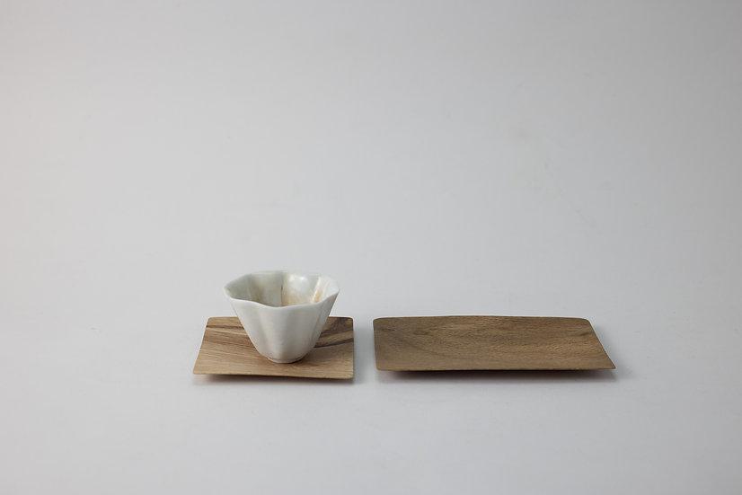 【古川潤】樫の木の茶托/樫の木の菓子皿