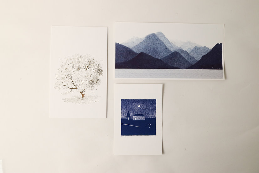 【しゅんしゅん】Post card・光の木/屋久島/彗星の小径