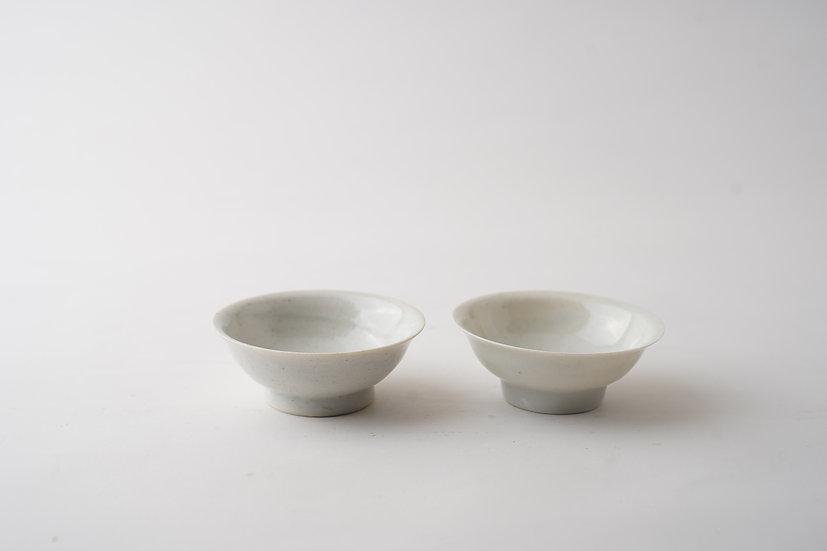 【竹下努】青白磁平茶盃