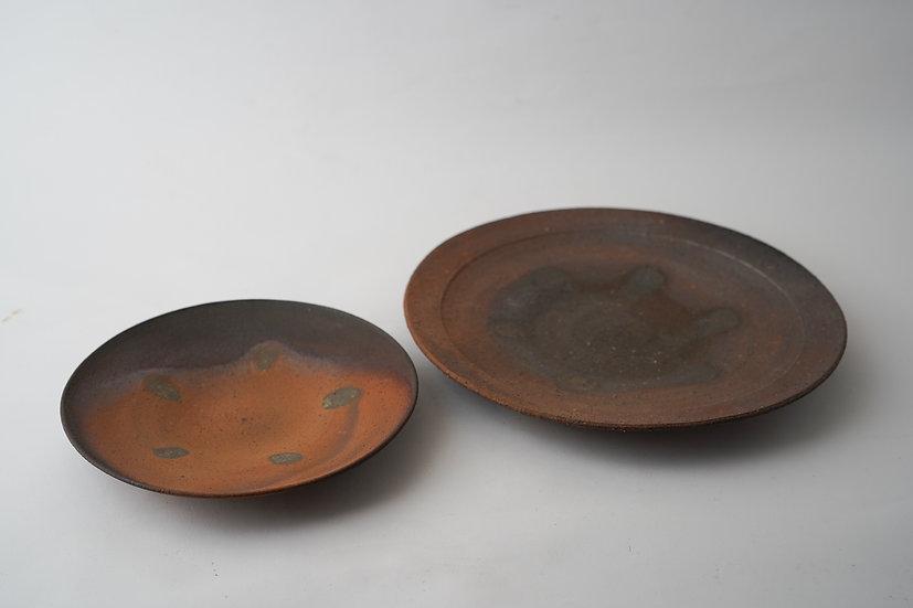 【竹下鹿丸】南蛮六寸皿・南蛮八寸皿