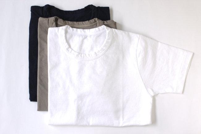 【MAROBAYA】Tシャツ半袖(白/灰/紺)