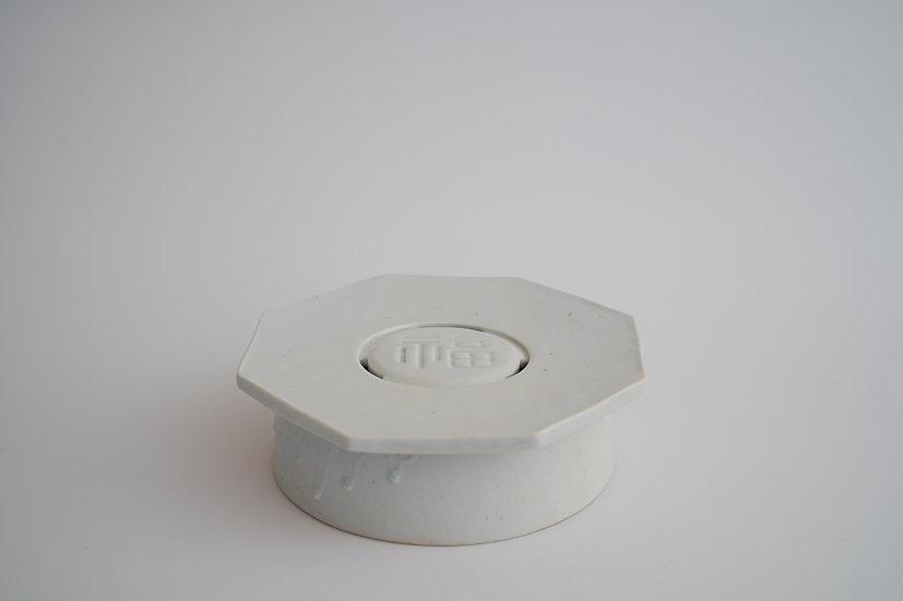 【竹下努】青白磁茶盤・小(TTS-9)