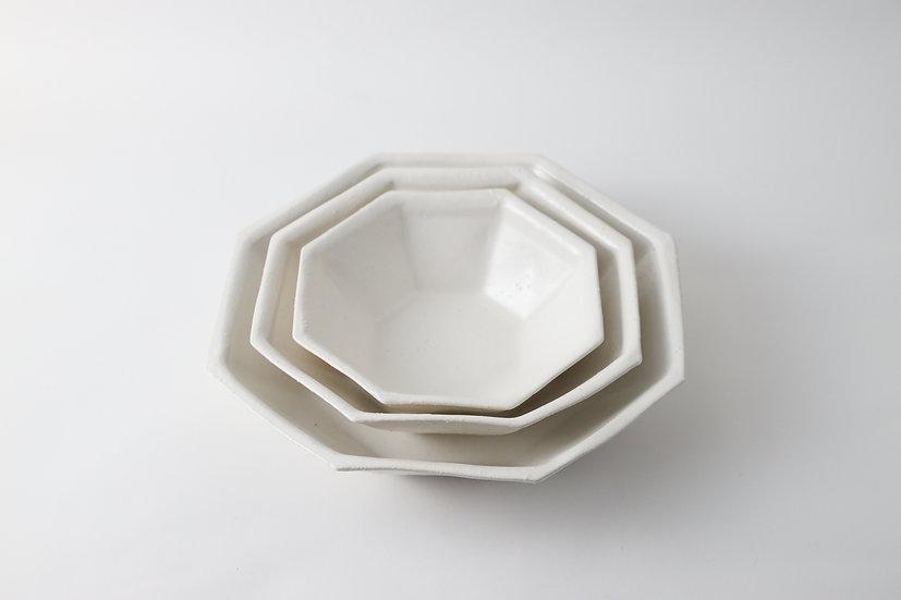 【中村豊実】白八角鉢