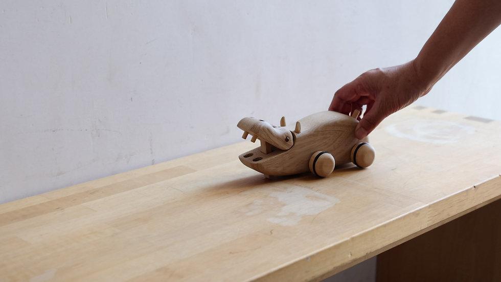 【蓮渓円誠】カラクリ玩具:カバ(HE1-22)