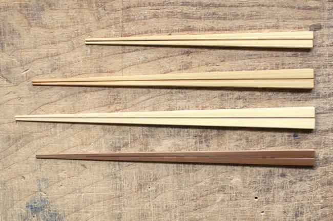 【高野竹工】京・嵯峨四角箸・白竹/極細箸・燻し媒竹