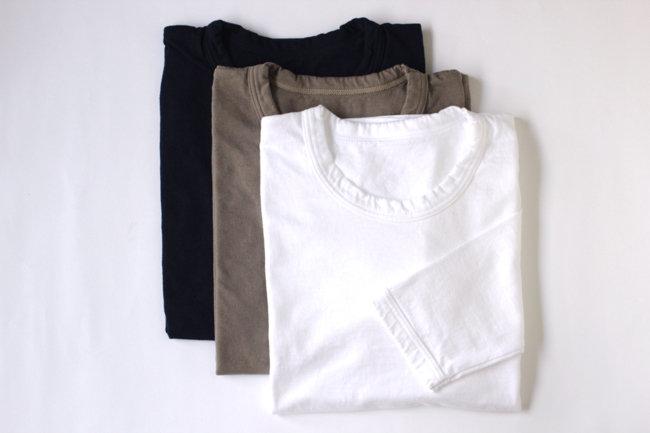 【MAROBAYA】Tシャツ長袖(白/灰/紺)