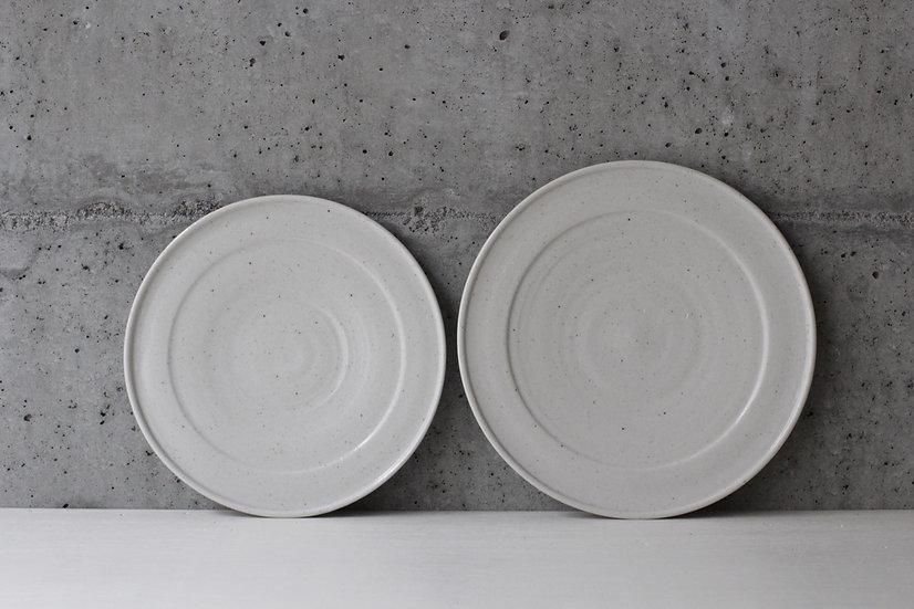 【竹下努】青白磁リム皿(7寸/8寸)