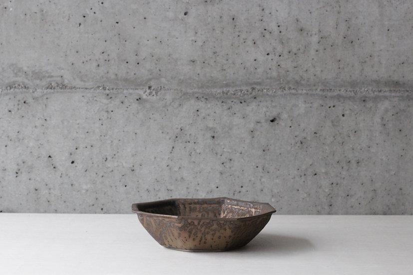 【中村豊実】砂金釉八角鉢