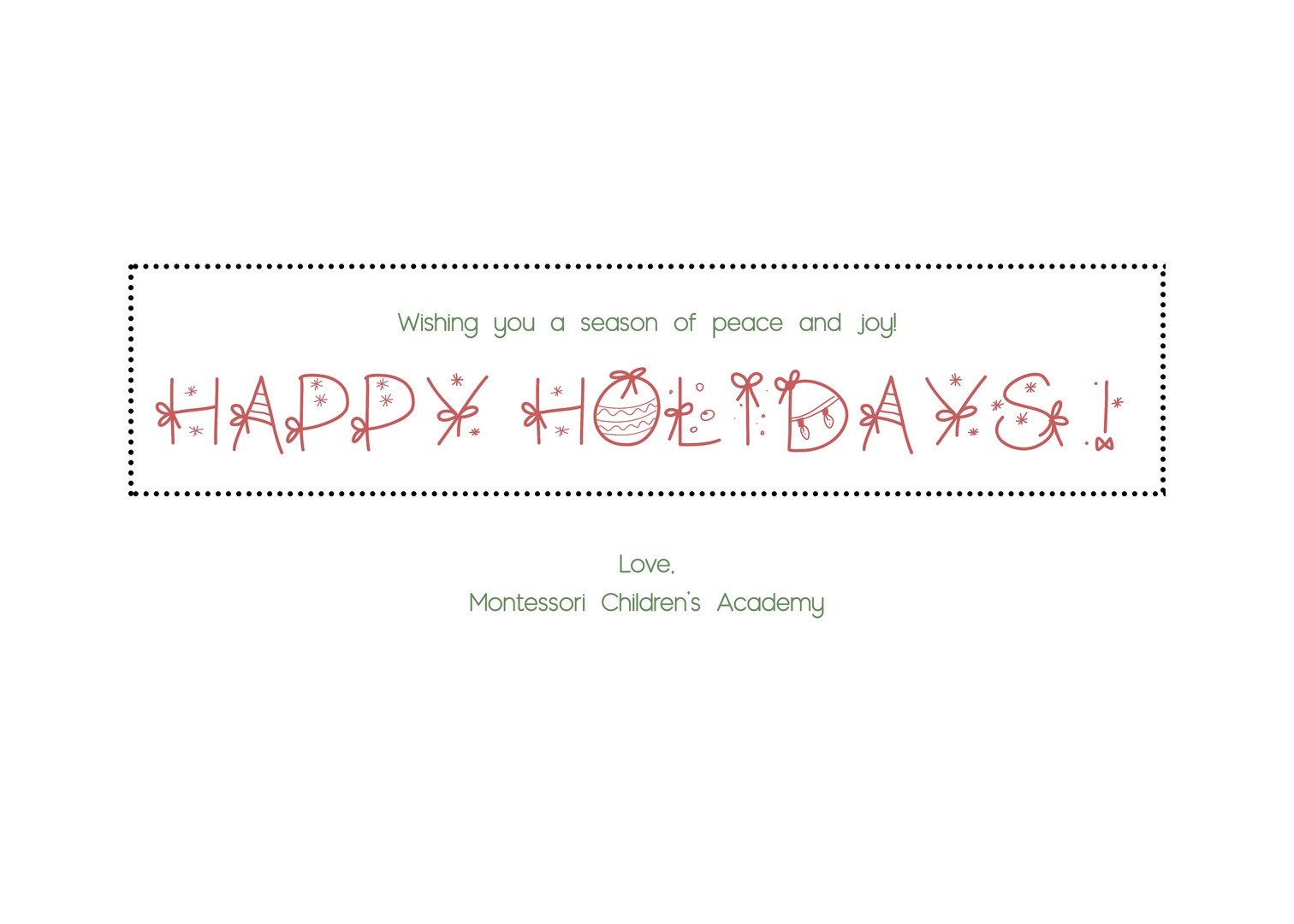 Greeting Card Text