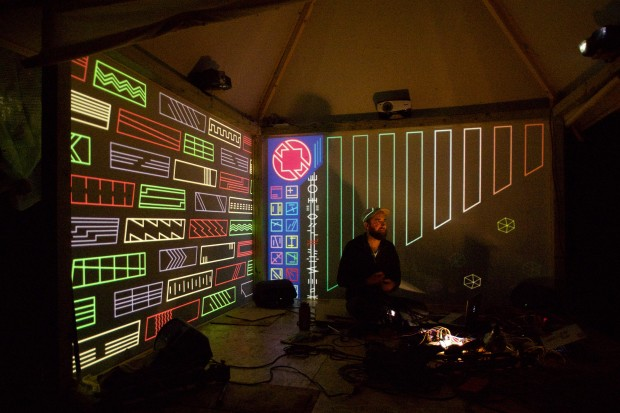 Brian House performing Asemic Tilt