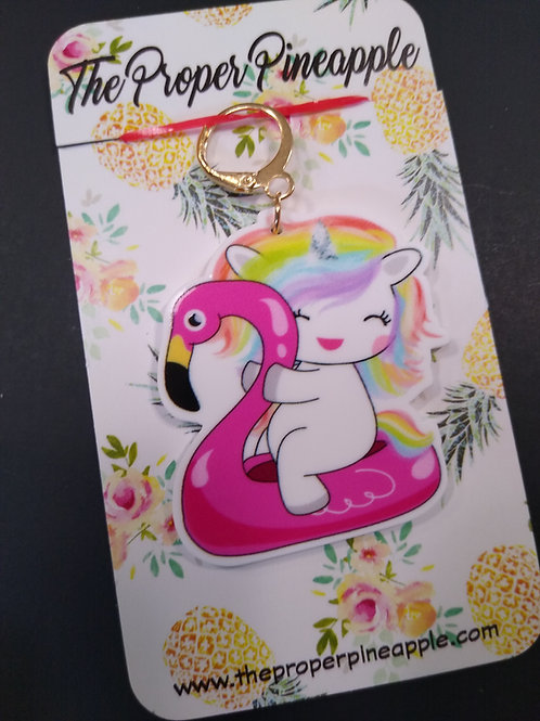 Stitch Marker/Progress Keeper unicorn flamingo