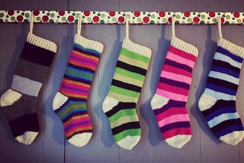 Colorful Christmas Stocking
