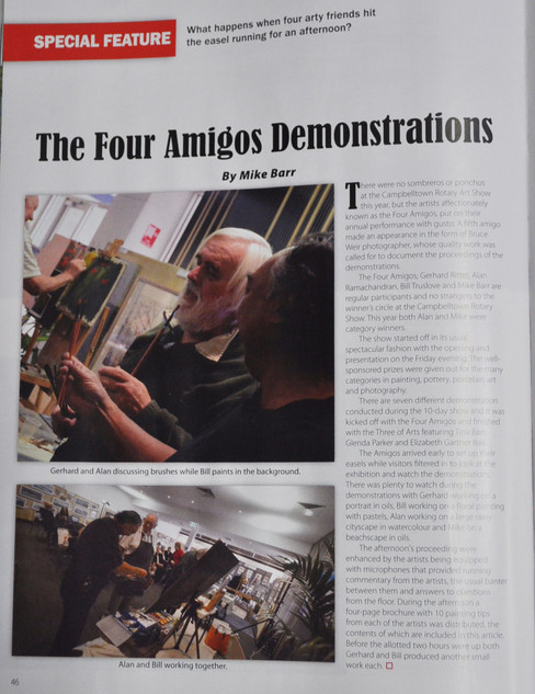 Australian Artist Magazine - The Four Amigos Demonstrations