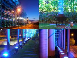 "Cameo ZENIT P130 PAR spotlights illuminate the facades in Prague's ""The Park"""