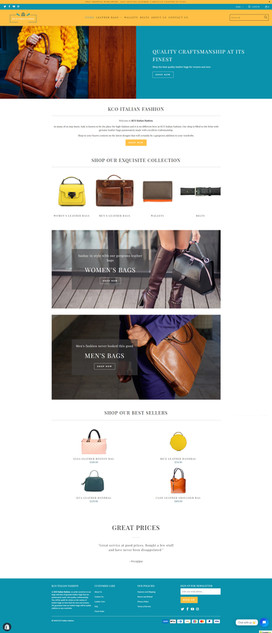 KCO Italian Fashion - Ecommerce Website