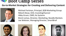 Michael Fertman Moderating Panel for SIIA Boot Camp: Digital Marketing Series