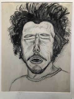 Self Portrait Caughing