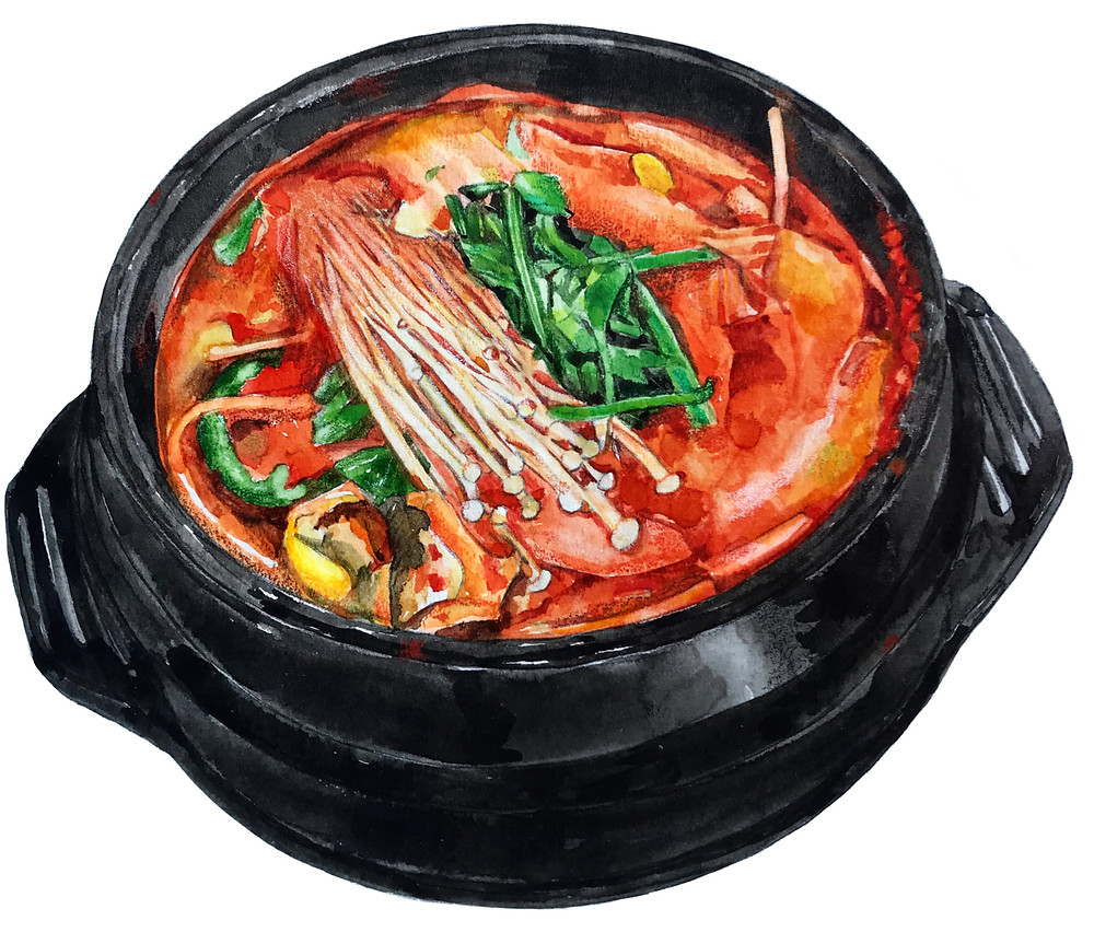 Pescatarian Korean Food Spicy Fish Stew