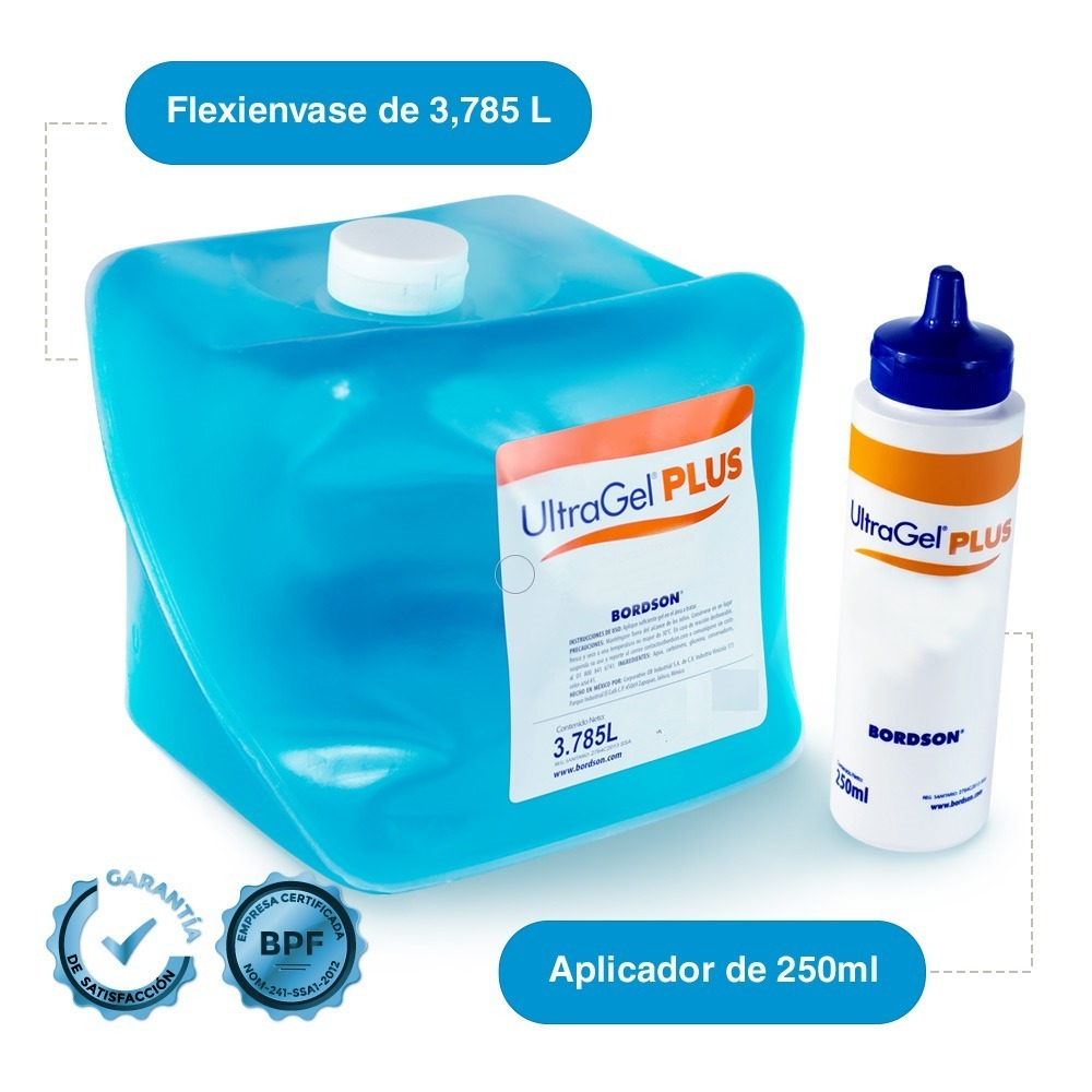 Gel para ultrasonido plus azul