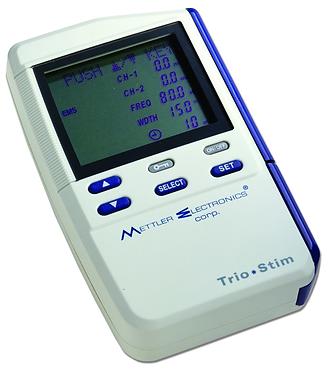 Estimulador eléctrico TENS, EMS y micro corriente Trio Stim 215 marca Mettler de venta en Bruce Médica