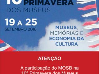 CANCELADA: Participação na 10ª Primavera dos Museus