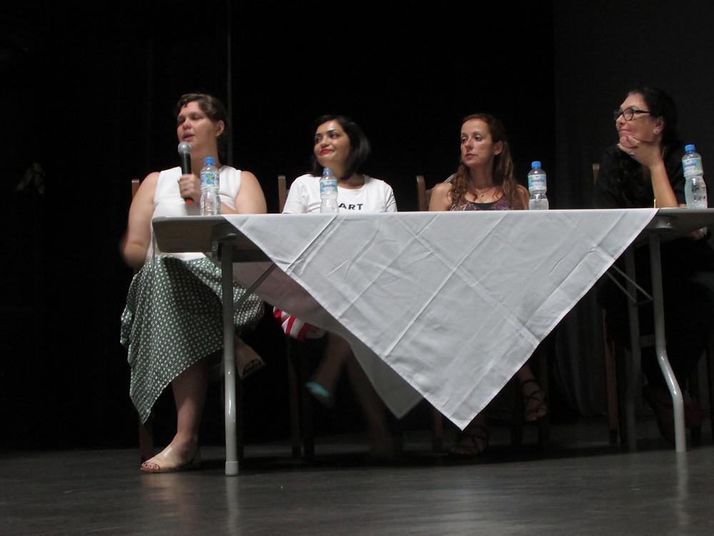 da esquerda para direita: Marília Bonas, Luciana Nemes, Helen Altimeyer e Cecília Machado