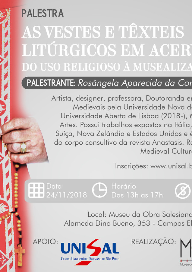 As Vestes e Têxteis Litúrgicos em Acervos: Do uso religioso à muzealização
