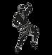african dancer (transparent background).