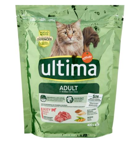 ULTIMA CAT - Manzo e Riso Croccantini Adulto  400gr