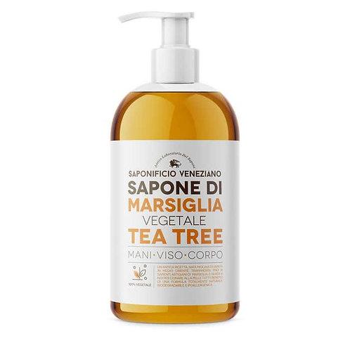 SAPONIFICIO VENEZIANO SAPONE MANI MARSIGLIA E TEA TREE 500 ML