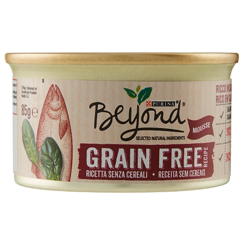 PURINA BEYOND Grain Free Gatto Mousse Salmone Spinaci 85g