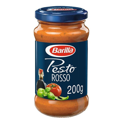 Barilla Pesto Rossocon Pomodoro, Basilico e Aceto Balsamico di Modena IGP, Senza