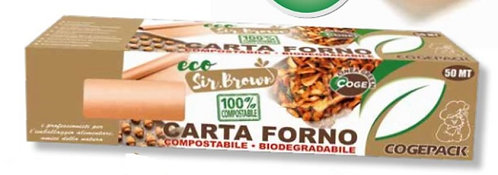 CARTA FORNO ECO SIR BROWN 50 MT