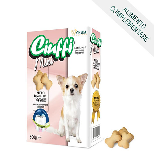 Ricompensa Micro Biscottini Croccanti con Pollo Ciuffi Dental Care 500gr